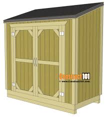 lean to shed plans free plans