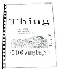 volkswagen thing type color wiring diagram booklet via volkswagen thing type 181 color wiring diagram booklet 10 via dastank com girls like cars money volkswagen book and colors