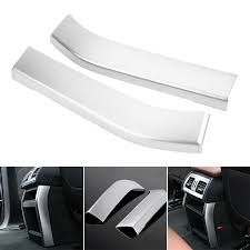 2PCS <b>Car</b> Interior Rear <b>Air</b> Outlet Cover Trim Sticker For X5 X6 F15 ...