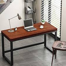 Tribesigns 55u201d Rustic Computer Desk Vintage Industrial Style Home Office Desk PC Laptop Study