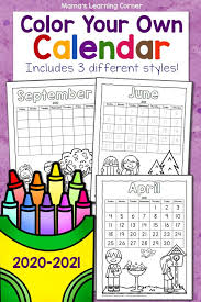 Listed below are the free monthly calendar for 2021 year. Color Your Own Calendar 2020 2021 Mamas Learning Corner