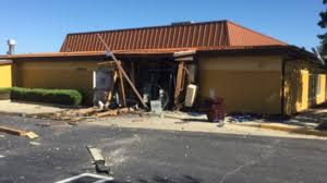 officials huge hole blown through rear of md olive garden after some type of explosion