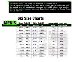 Mens Ski Chart Blend Ski Size 168