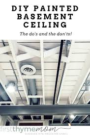 painted basement ceiling. DIY Exposed Painted Basement Ceiling. Tips For How To Paint A This Ceiling E