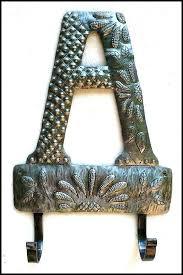 monogram wall hooks letter metal towel hook initial australia me