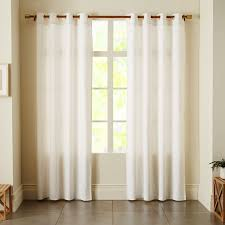 window with white curtains. Fine Window Linen Cotton Grommet Curtain  White With Window Curtains