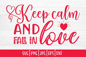 The new version of the png to svg converter app automatically detects the best matched colors and generates a color palette from it. Valentine S Day Svg Keep Calm And Fall In Love 1145191 Illustrations Design Bundles