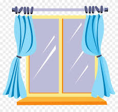 window clipart. Interesting Clipart House  Cartoon Window With Curtains Inside Clipart