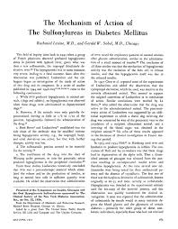 the mechanism of action of the sulfonylureas in diabetes mellitus pdf extract preview