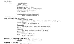 College Application Resume Template Grand College Application