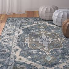 area rugs chancellor hand tufted wool dark blue area rug