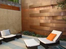 Small Picture Modern and Amazing Orange Wall Designs with Rattan Furniture in