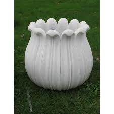 oriental outdoor furniture. Carved Marble Lotus Planter From Rajasthan Oriental Outdoor Furniture D