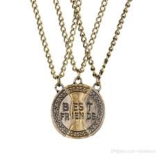 whole english pendeloque cut alloy pendant fashion three flap best friends necklace good friend necklace chain 3 paper set best friend necklaces rose