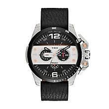 diesel watches h samuel diesel mens ironside black dial leather strap watch product number 3745678