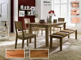 Massivholz Esszimmer Set Ethos Tisch Ausziehbar 160260x95x76 Mit