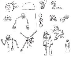 terraria coloring pages page skeletron wall of flesh