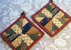 quilted potholder patterns | Quilted by stitching near the edges ... & Pieced and Quilted Potholders Adamdwight.com