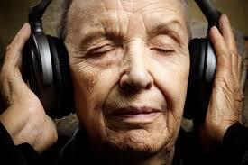 Image result for images of people meditating with headphones