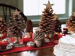 Eco Christmas Table Decorations Made of Pine Cones