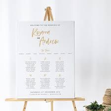 Modern Wedding Table Plan Minimalist Wedding Table Plan Simple Wedding Table Plan Modern Seating Chart Wedding Sign Soho Collection