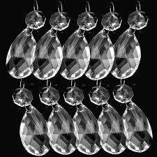 38mm 10pcs clear crystal glass chandelier lamp parts prisms pendant drops decor