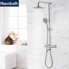 bath shower faucet set bathroom mixer shower bathtub taps thermostatic faucet set shower mixer tap waterfall