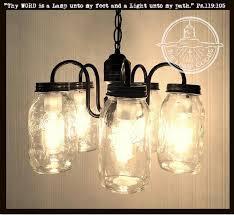 lighting jar. Mason Jar CHANDELIER 5-Light Cluster NEW Quarts - The Lamp Goods Lighting