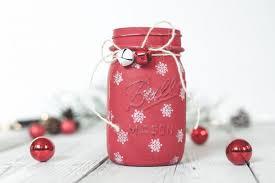 Decorate A Jar For Christmas Painted Snowflake Mason Jar Mason Jar Crafts Love 70