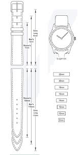 Watch Band Size Chart Determine Your Watch Band Size Homage Leatherworks
