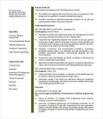 civil engineer resume templates – free samples  psd  example    sample midlevel civil engineer resume template word format