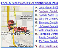 google yahoo lisitings local maps listing