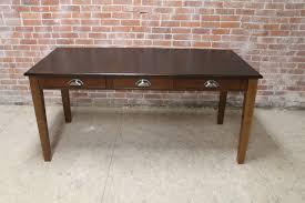 old office desks. old pine desk black top with rub thru office desks