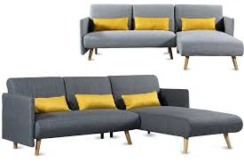 corner chaise sofa l shaped corner chaise sofa grey charcoal fabric modern small 3 sofa bed