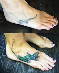 перекрытие тату ящерица фото салона Tattoo Times узнай цену на сайте
