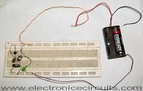 1 5v one battery led light flasher circuit diagram electronic 1 5v one battery led light flasher circuit