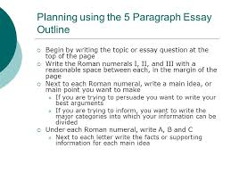 guidelines for writing a basic essay a step by step guide through  planning using the  paragraph essay outline  begin by writing the topic or essay question