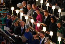 Royal Wedding Seating Chart 2018 Meghan Markle Takes Power Seat At Princess Eugenies Wedding