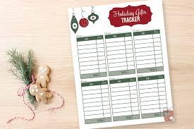 Gift Tracker Gift Tracker Printables I Heart Planners