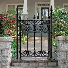 terrace 3 feet pedestrian gate wrought iron garden gates