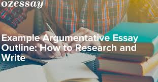 example argumentative essay outline how to research and write