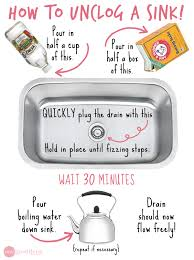 have a stubborn slow moving drain how to unclog a sink without chemicals via one good thing by jillee