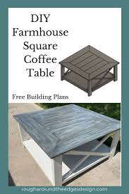 Minimal in design but big on style, the beautiful planked. Diy Square Farmhouse Coffee Table Rough Around The Edges