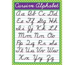 Cursive Letters Chart Teacher Created Resources Cursive Writing Chart