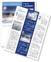 Winter Nature Newsletter Template