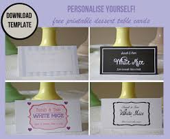 Table Labels Template Wedding Dessert Table Labels Template Free Download