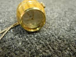 vintage bucherer pendant watch enamel