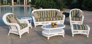 white wicker furniture. Simple Wicker St Lucia 6 Piece Outdoor Wicker Sofa Set Intended White Furniture