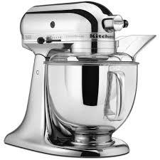 kitchenaid custom metallic 5 qt chrome stand mixer