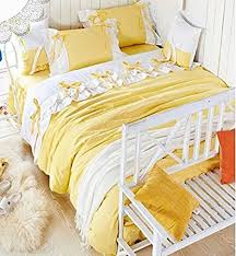 yellow queen bedding. Interesting Yellow FADFAY Home TextileKorean White Ruffle Queen Bedding SetLilac Duvet  CoversPink On Yellow I